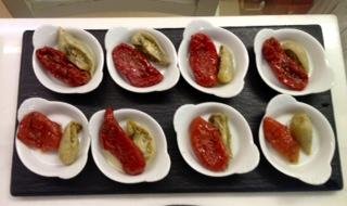 Tomates semisecos, rojos y verdes. Originales y buenísimos