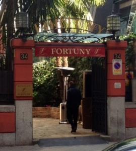 Entrada a Fortuny