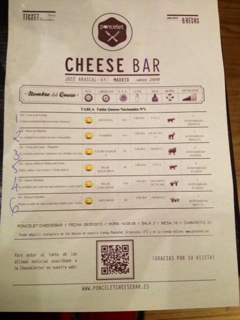 Nuestra tabla de quesos. Creo que no pudimos elegir mejor. ¡Impresionante!