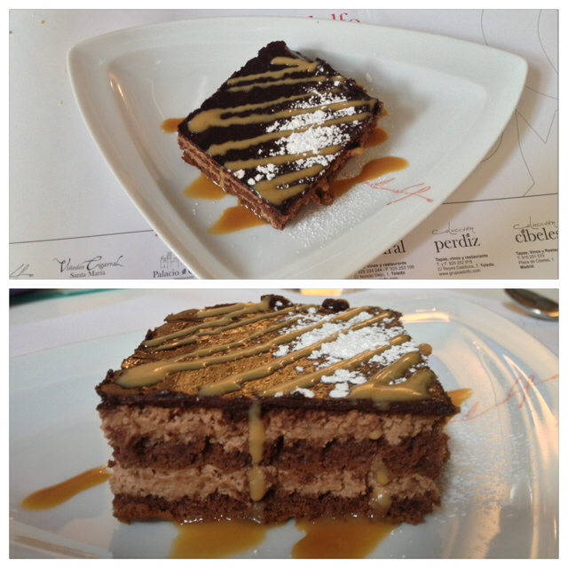 Tarta de chocolate. Chocolate cake. Schokoladenkuchen.