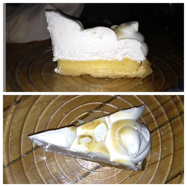 Tarta de limón. Lo peor de la noche. Lemon pie. The worst of the night. Zitronetörtchen. Das Schlimmste der Nacht.