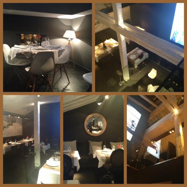 Restaurante en tres plantas, con decoración moderna pero acogedora. Restaurant on three levels, with modern but cozy decor. Restaurant auf drei Ebenen, mit modernen, aber gemütlichen Dekoration.