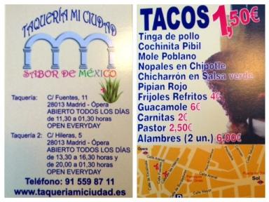 Taquería Mi ciudad_tarjeta