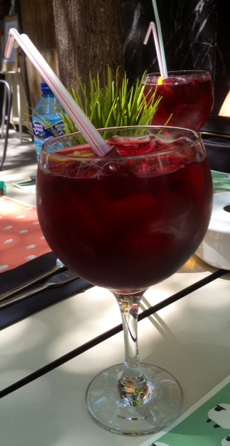 Tinto de verano. Red wine with soda. Rotwein mit Soda.