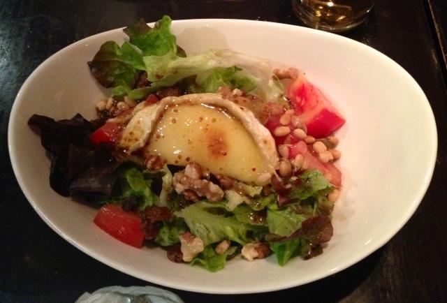 Ensalada de rulo de cabra. Goat cheese salad. Ziegenkäse Salat.