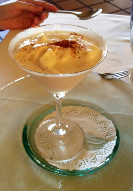 Sorbete de almendra. Almond sorbet. Mandeln Sorbet.