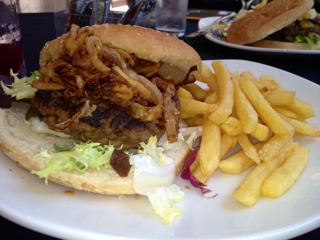 Classic burger.