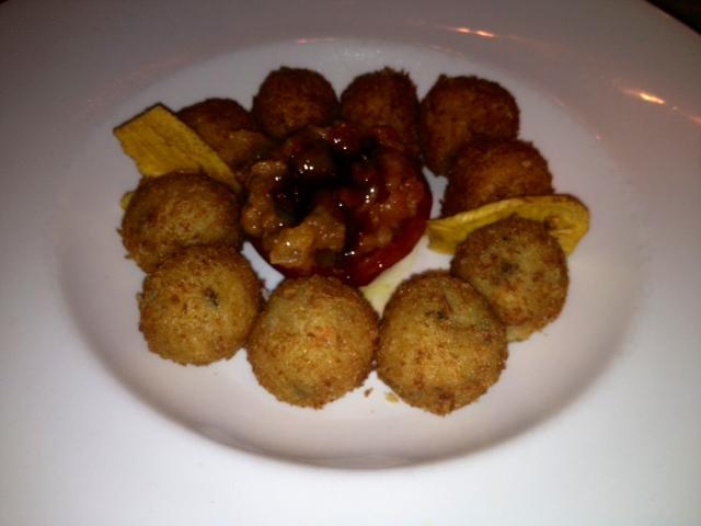 Croquetas de faisán y mejillones. Pheasant and mussels croquettes. Fasan und Muscheln Kroketten.