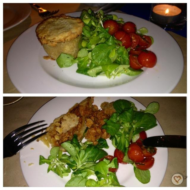 Polvorosa de pollo (15€). Chicken pie. Hühnerpastete.