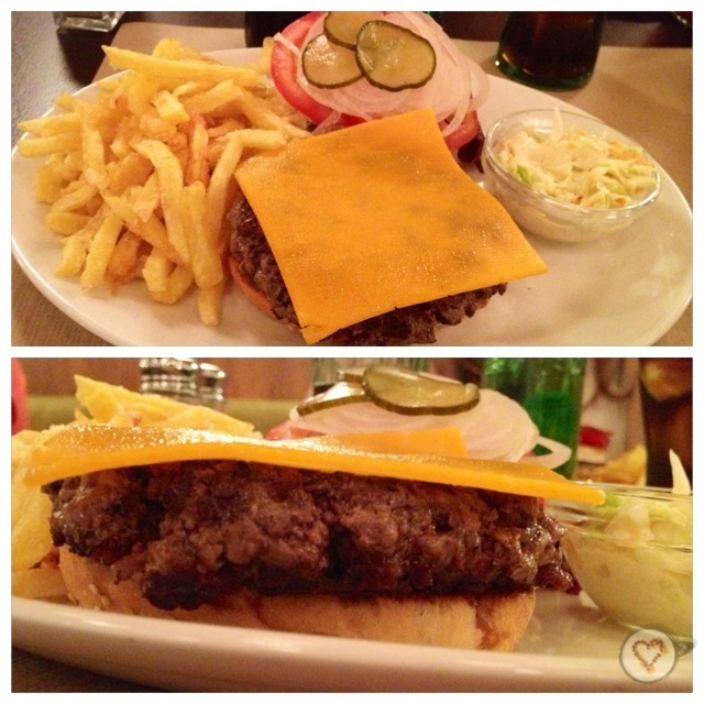 Hamburguesa clásica con queso. Classic cheeseburger. klassischen Burger mit Käse