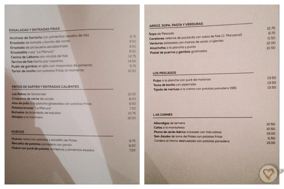 La maruca las cenas de ingrid - Restaurante la maruca ...