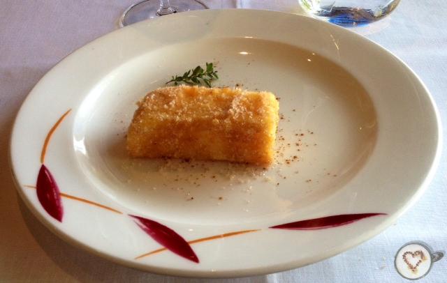 Leche frita (6,60€). Fried milk. Gebratenes Milch.