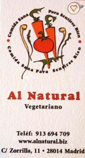 Al natural_tarjeta