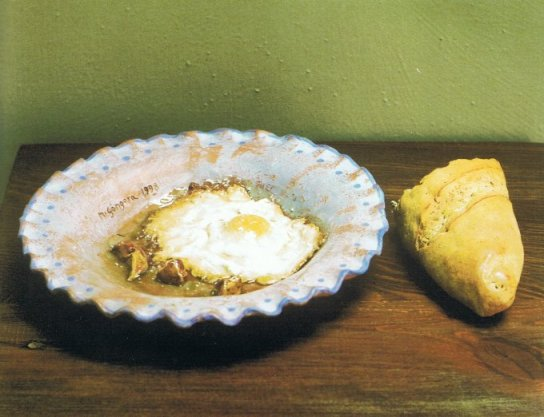 Huevo frito con pan (escultura).