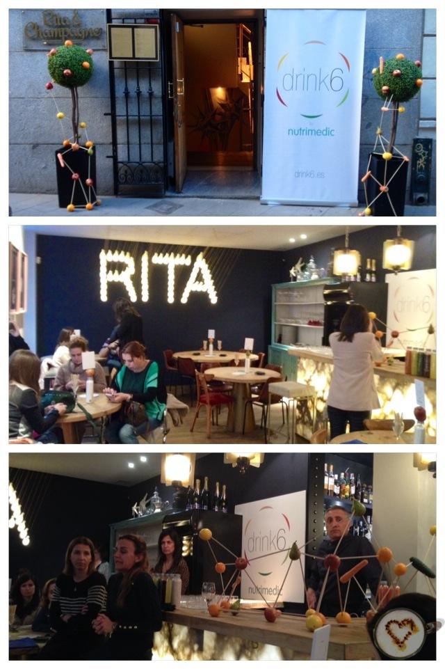 Presentación de Drink6 en Rita&Champagne