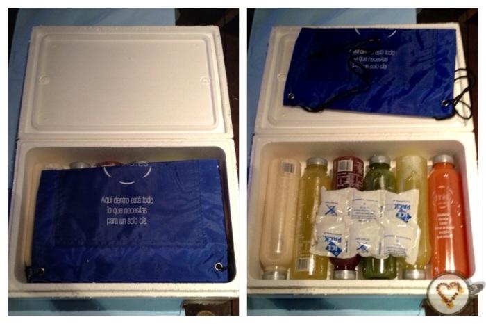 Caja refrigerada que llega a tu casa al hacer el pedido.