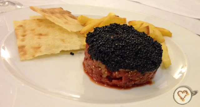 Steak tartar.