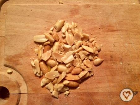 Partir los cacahuetes