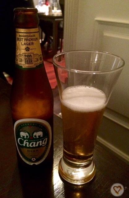 Cerveza thailandesa.