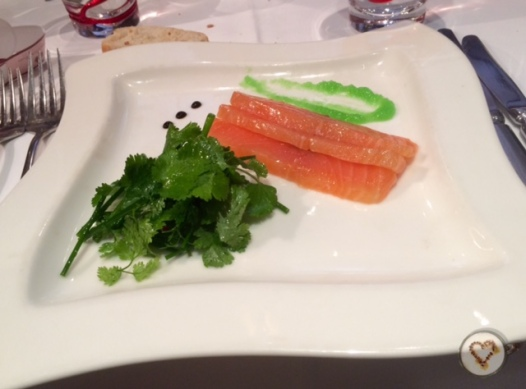 Sashimi de salmón. De lo más recomendable.